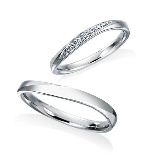 シンプル 結婚指輪の17WR42/17WR43