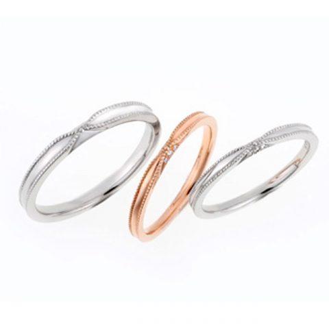シンプル 結婚指輪のRibon
