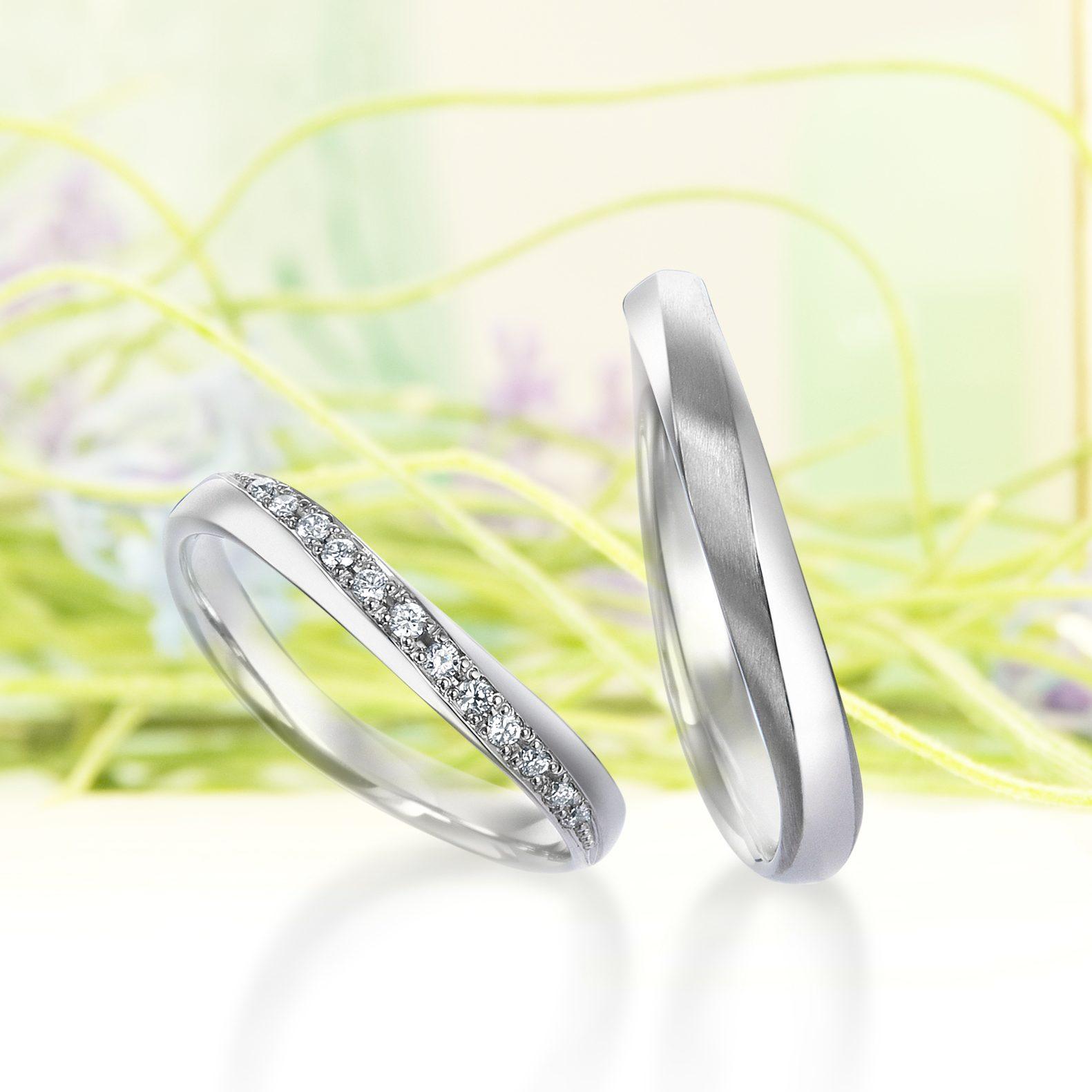 シンプル 結婚指輪のハミルトン島の風
