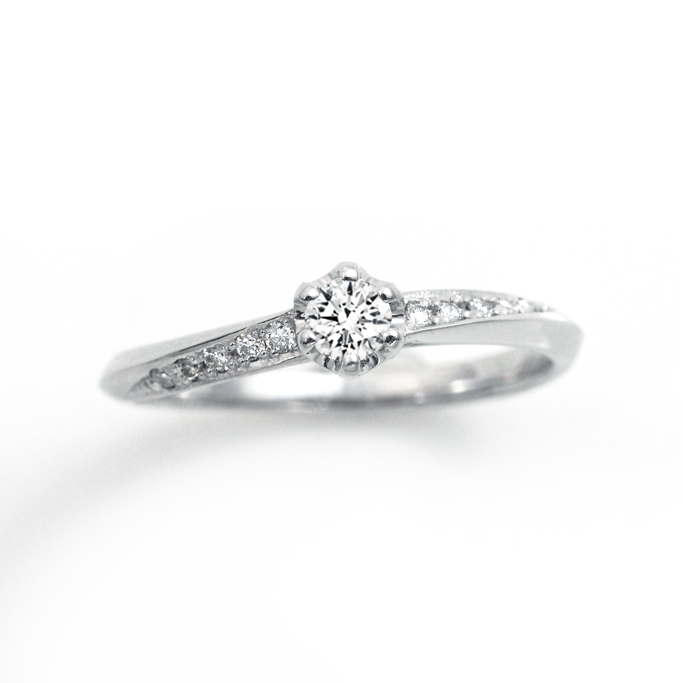 シンプル,フェミニン 婚約指輪のLP04802