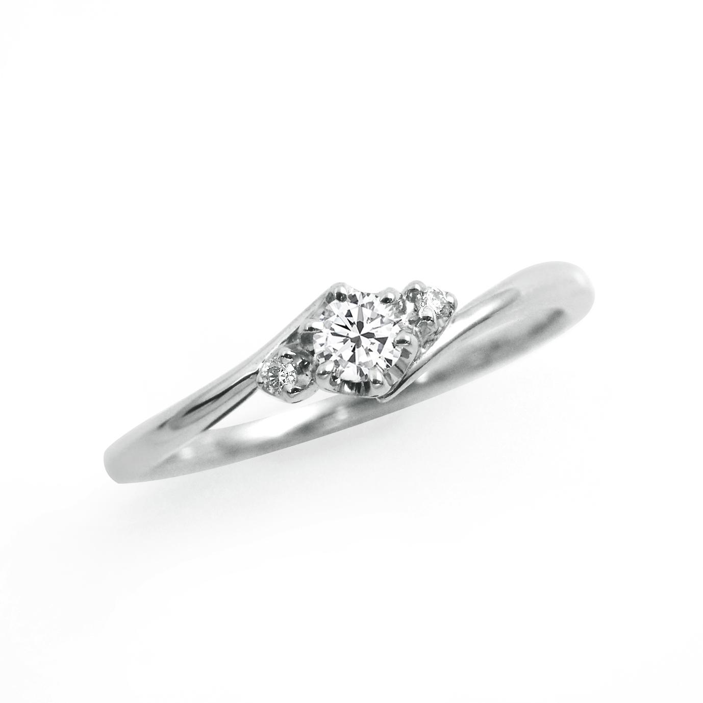 シンプル,フェミニン 婚約指輪のLP03289