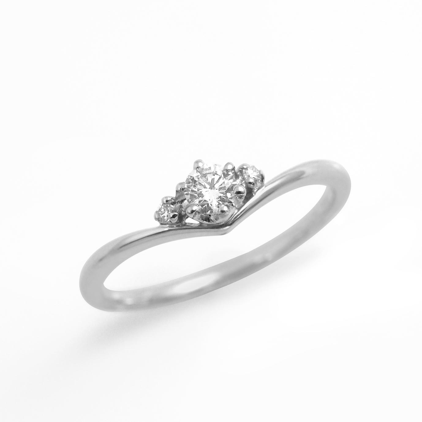 シンプル,フェミニン 婚約指輪のLP03290
