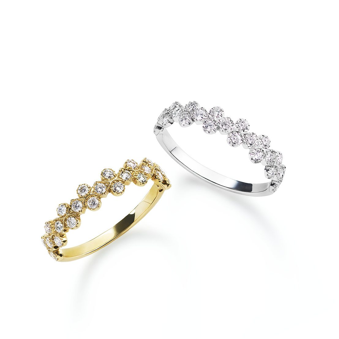 ゴージャス 婚約指輪のフローレントリング