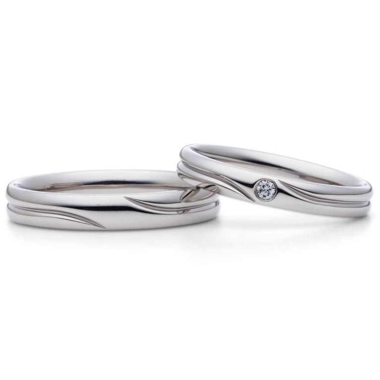 フェミニン 結婚指輪のshizuku -雫-