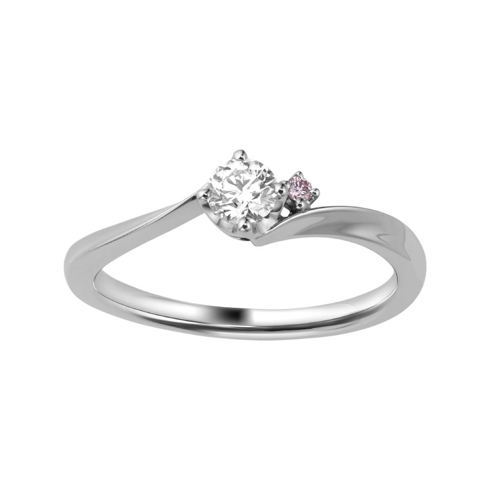シンプル,フェミニン 婚約指輪のROZA