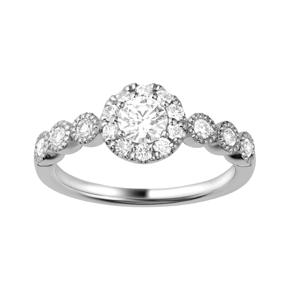 ゴージャス 婚約指輪のBOUQUET