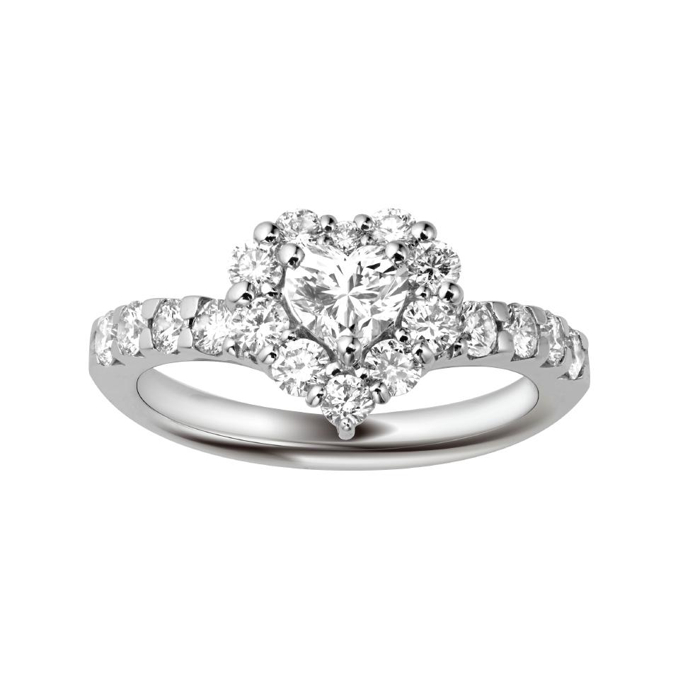 ゴージャス 婚約指輪のHAPPY HEART