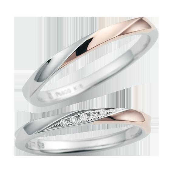 シンプル,フェミニン 結婚指輪のCN-630/CN-631