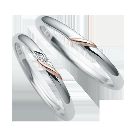 シンプル,フェミニン 結婚指輪のCN-632/CN-633