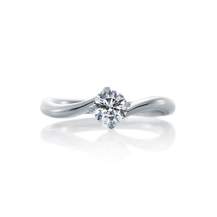 シンプル 婚約指輪のリリィ デュー