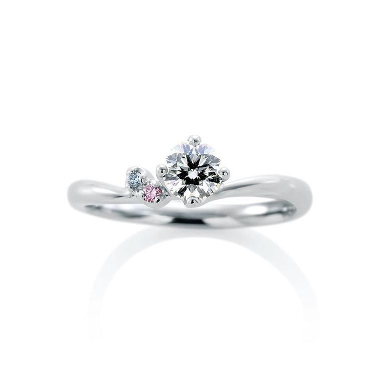 シンプル 婚約指輪のローブドゥマリエ デュー