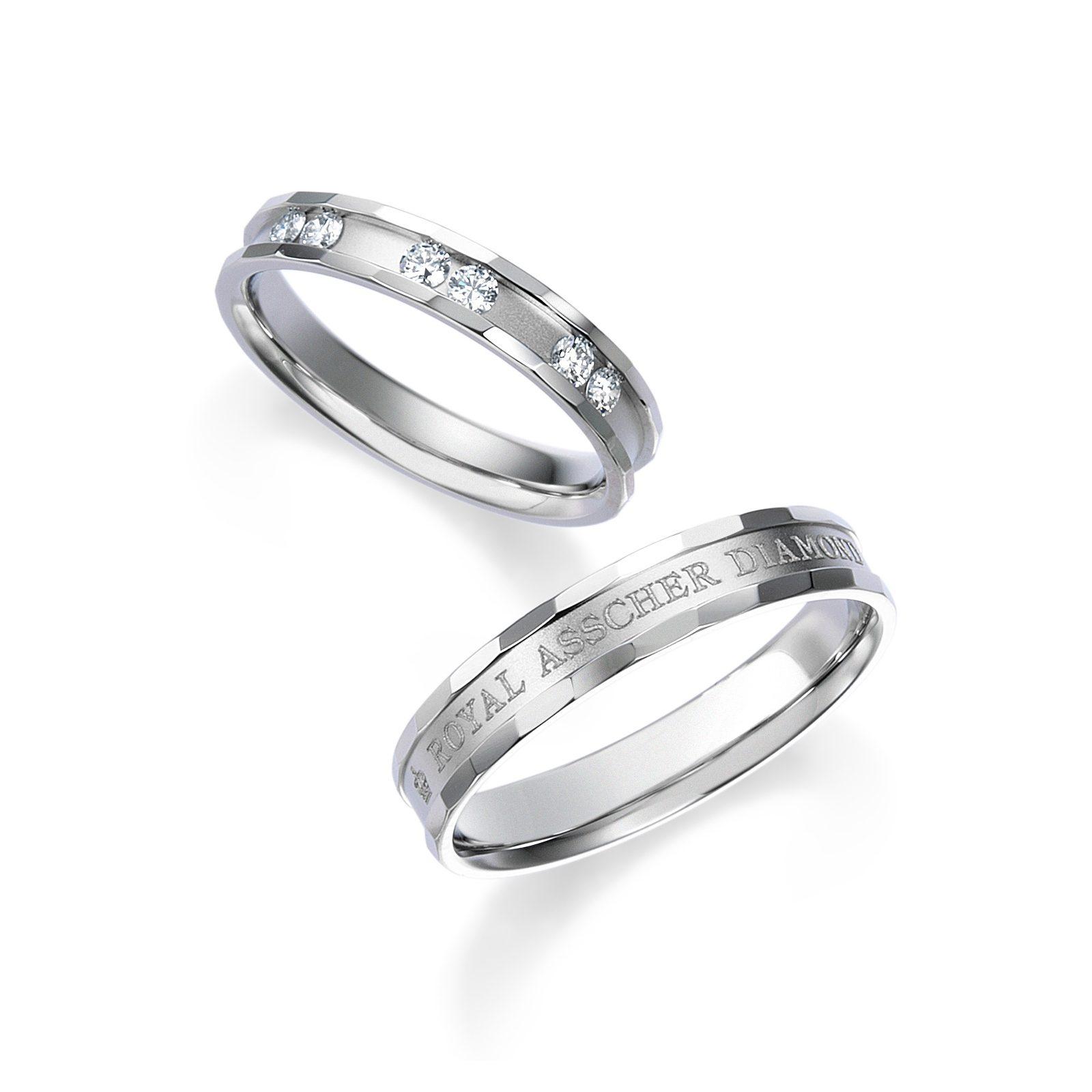 シンプル,ゴージャス,個性的 結婚指輪のWRB033 _WRA024