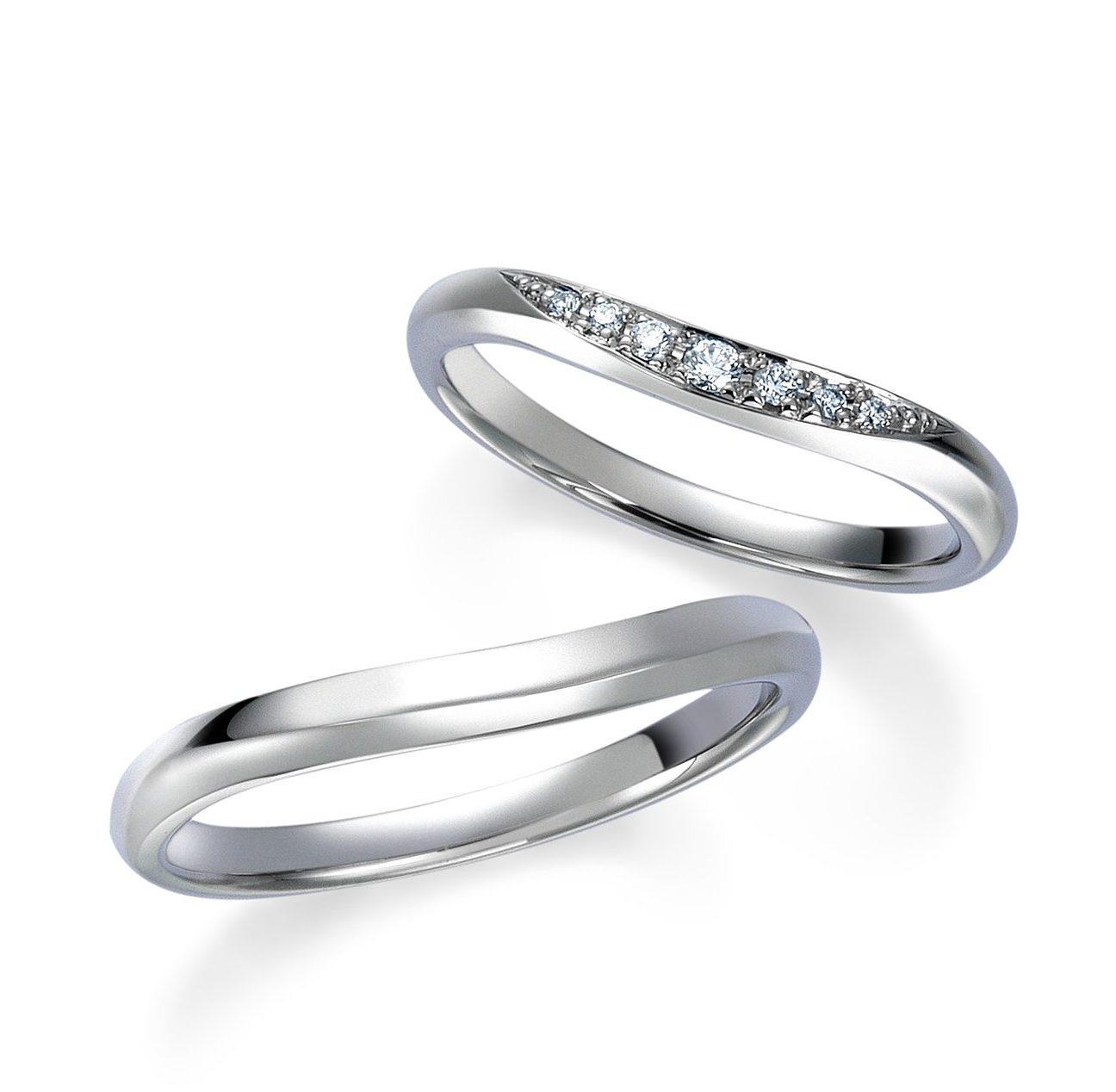 シンプル,フェミニン 結婚指輪のWRB038 _ WRA028