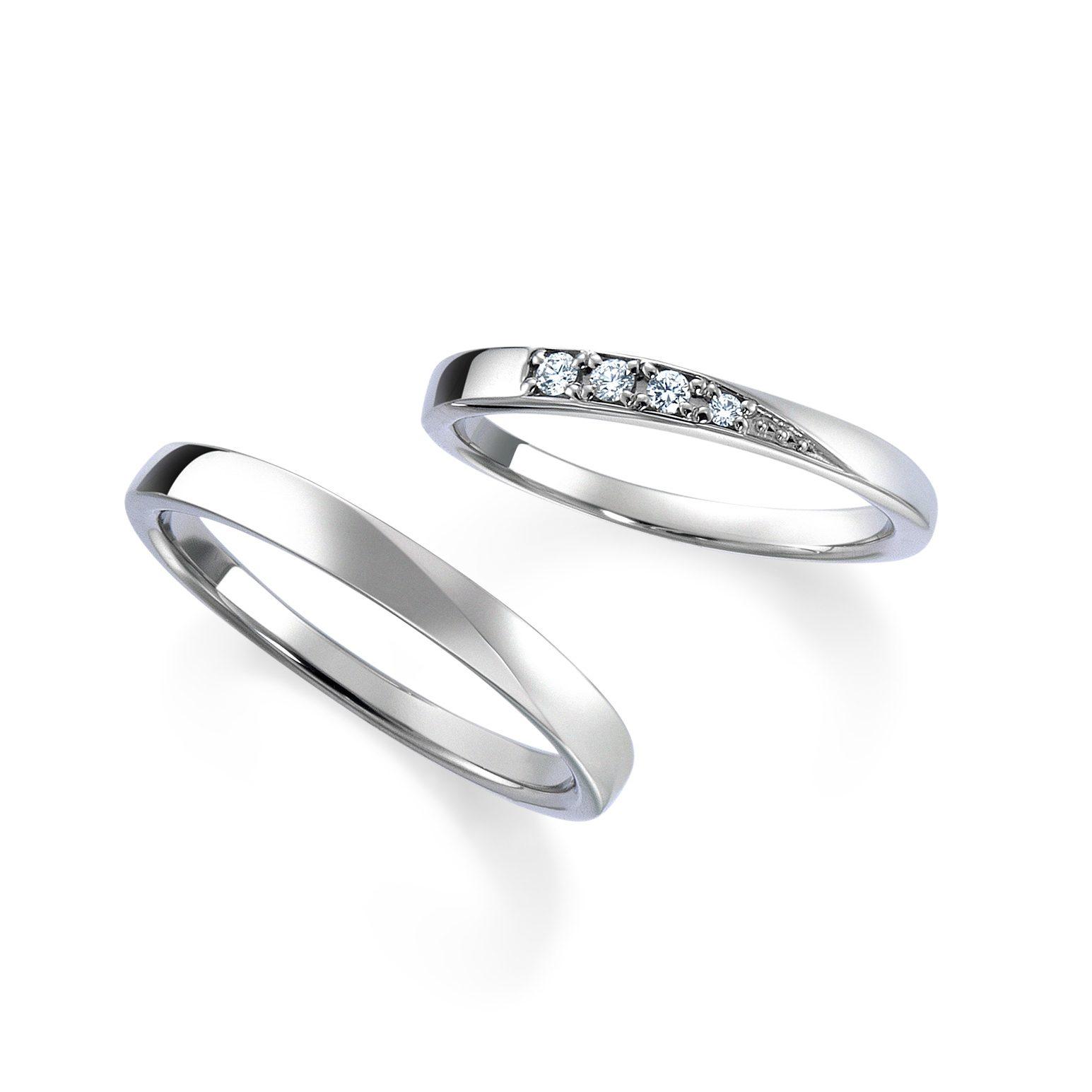 シンプル 結婚指輪のWRB039_WRA029