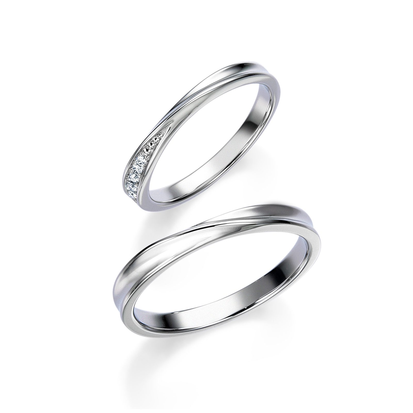 シンプル 結婚指輪のWRB060 _WRA050