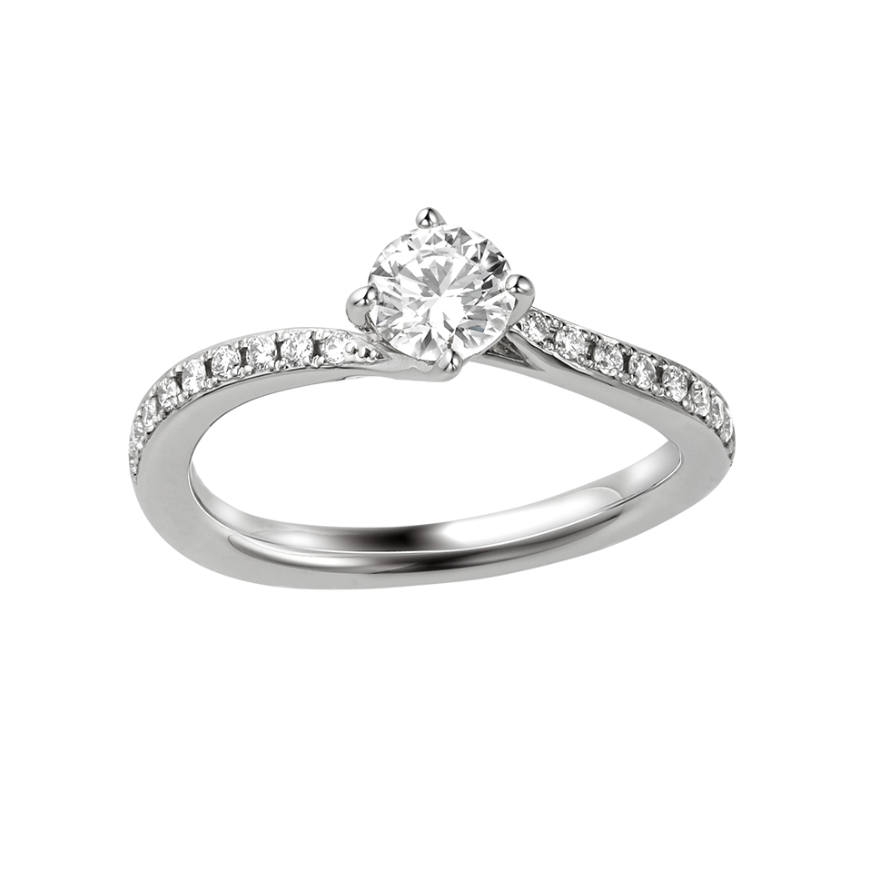 シンプル,フェミニン 婚約指輪のBEL SEGRETO