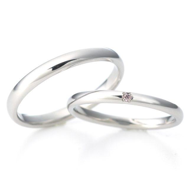 シンプル,フェミニン 結婚指輪のオーラ