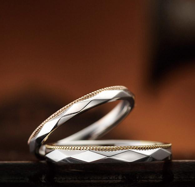 アンティーク 結婚指輪のアジュガ