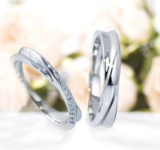 フェミニン,個性的 結婚指輪のローズソヴァージュ
