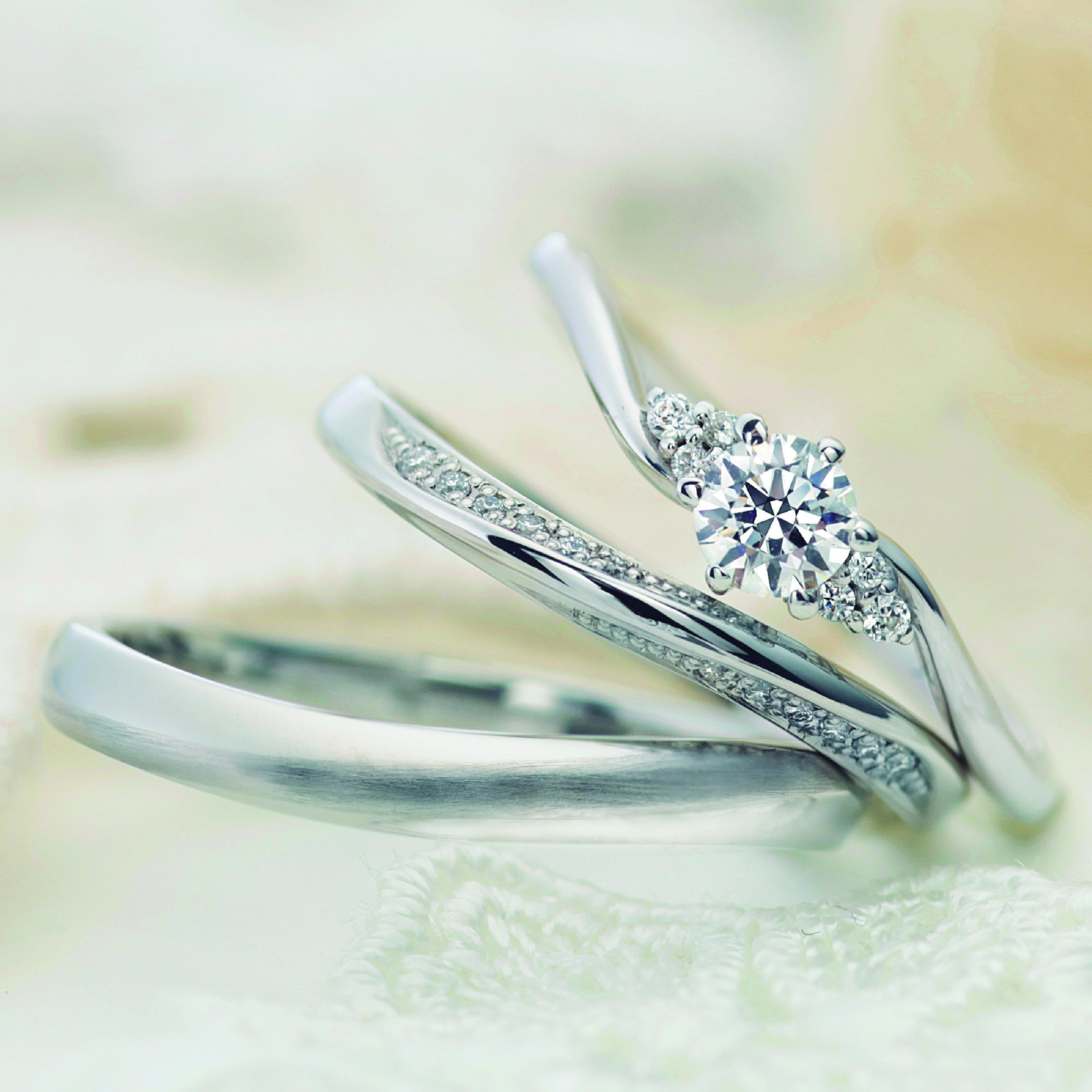 フェミニン,ゴージャス 結婚指輪のプルーヴ