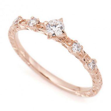 ゴージャス,アンティーク 婚約指輪のアベリ BR716C