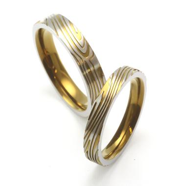 個性的 結婚指輪のMokume