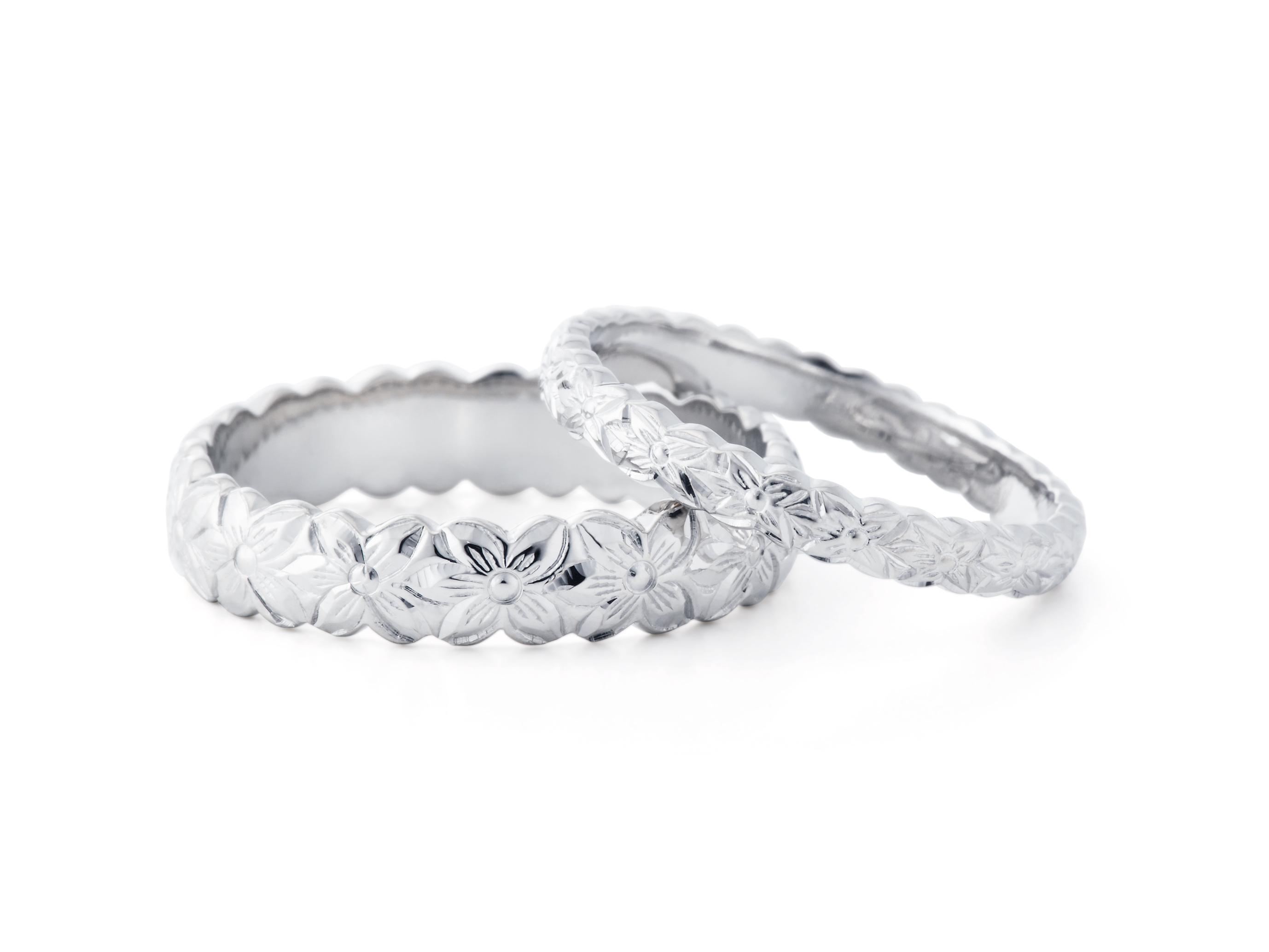 ハワイアン 結婚指輪のPUAALA:花