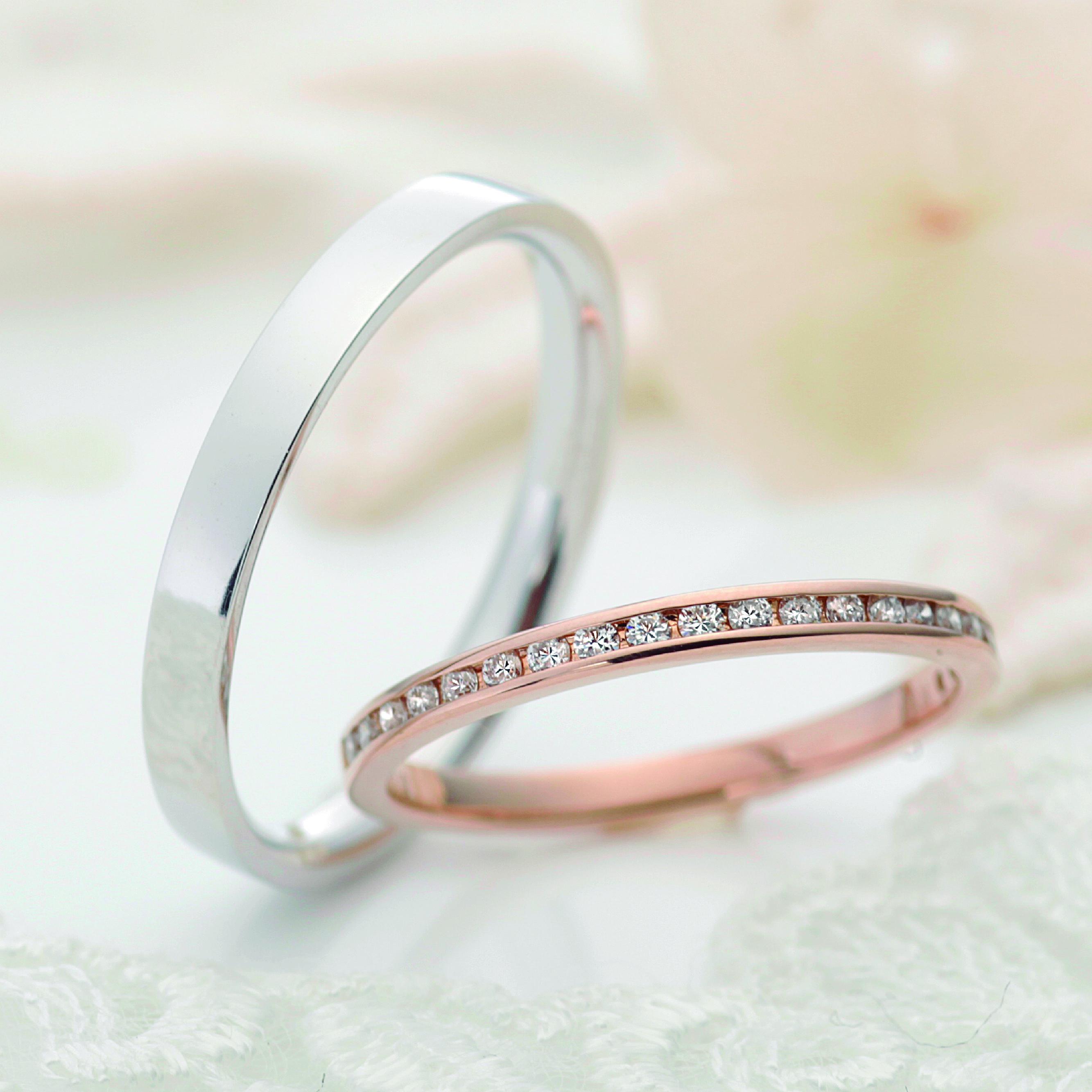 フェミニン,ゴージャス 結婚指輪のメテオール