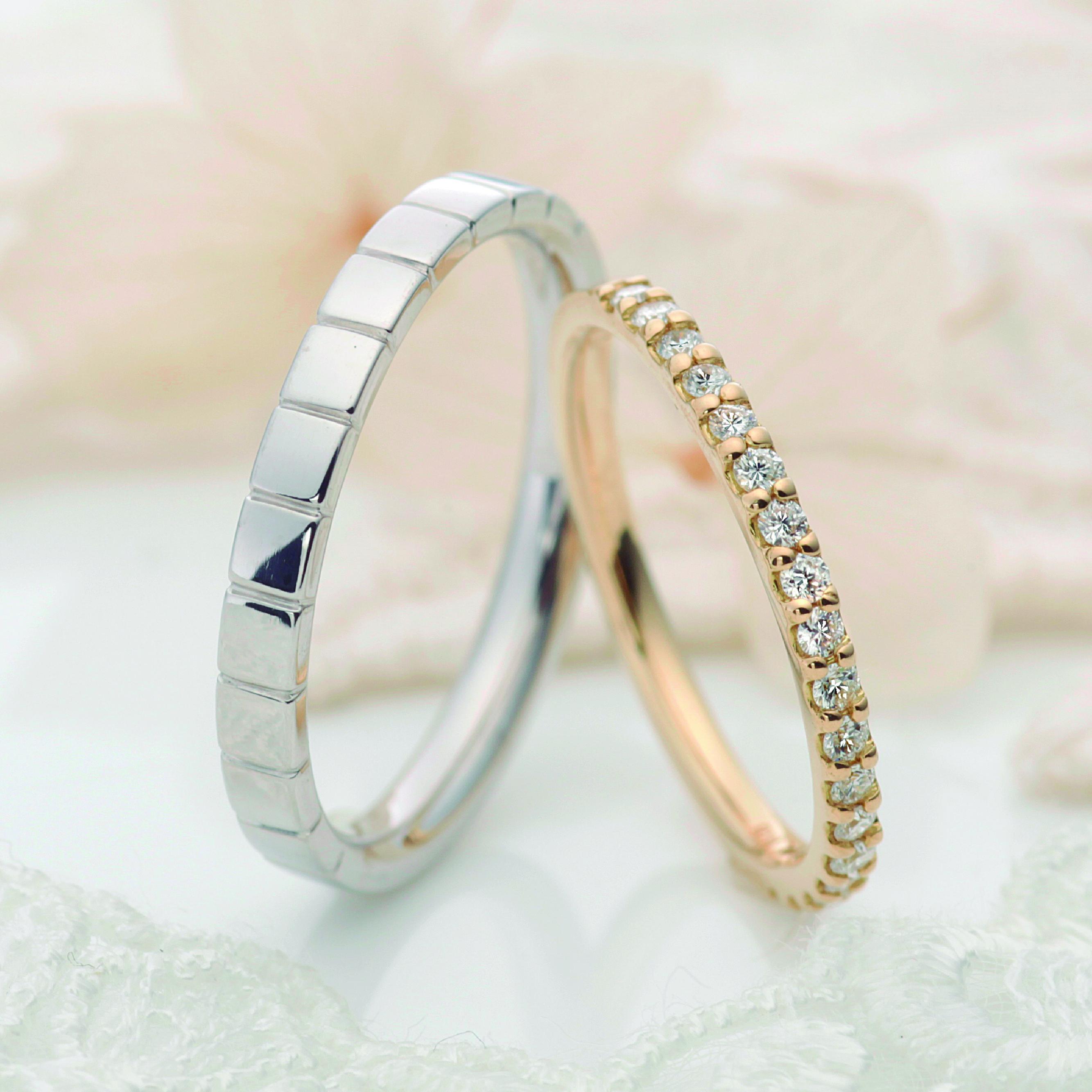 フェミニン,ゴージャス 結婚指輪のエルクレール