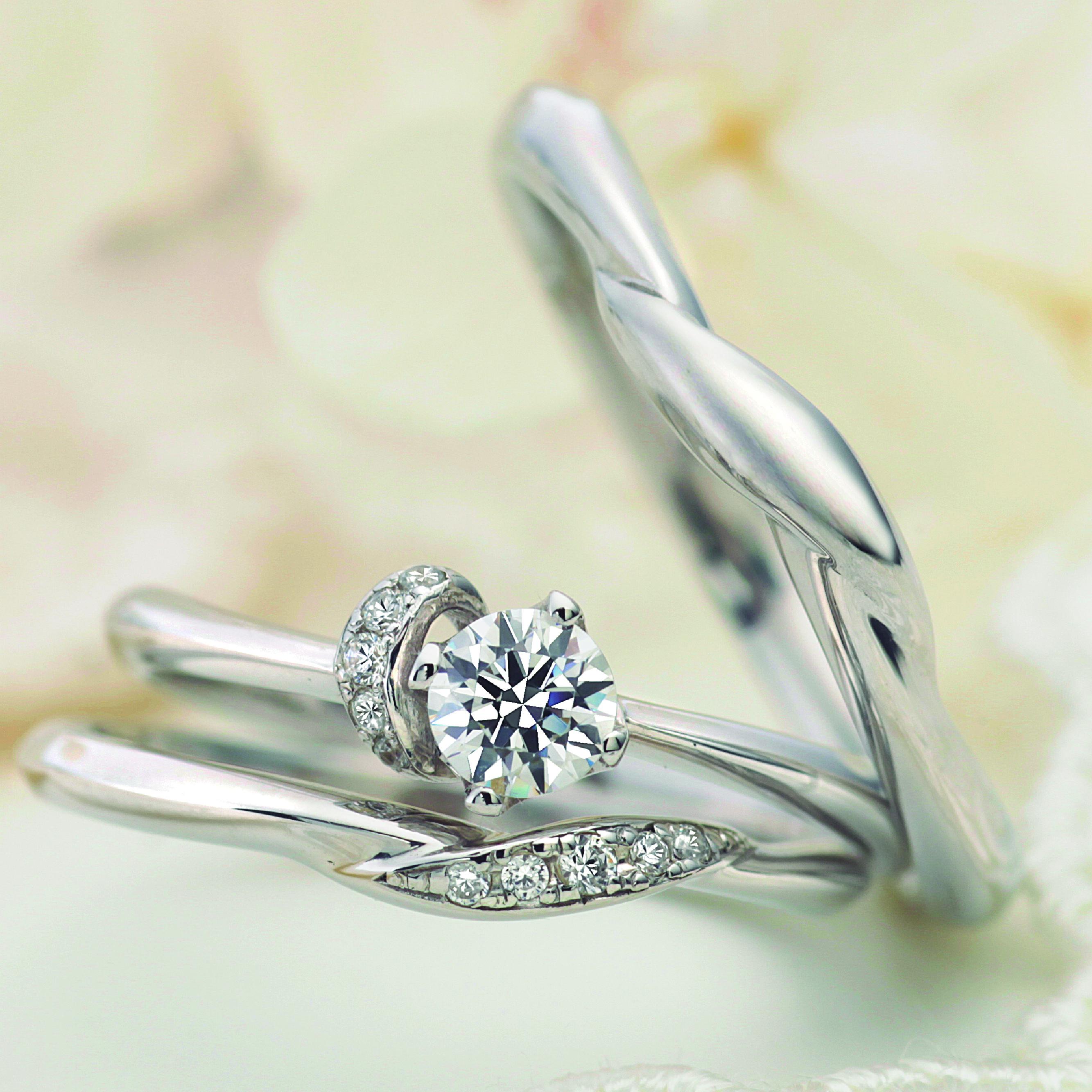 フェミニン,ゴージャス 結婚指輪のソネット