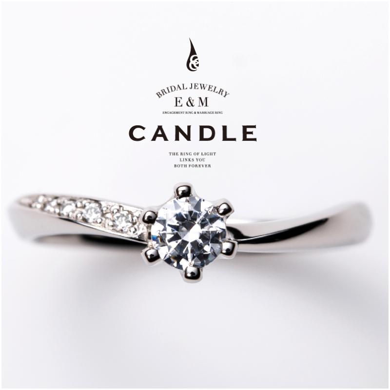 シンプル,フェミニン 婚約指輪のフローティング