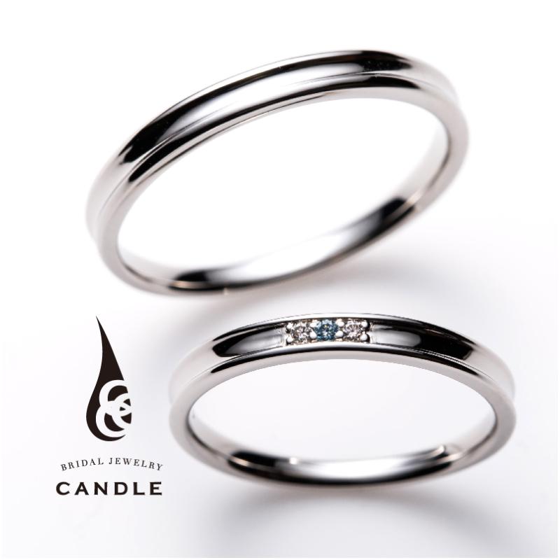 シンプル,フェミニン 結婚指輪のスクエア