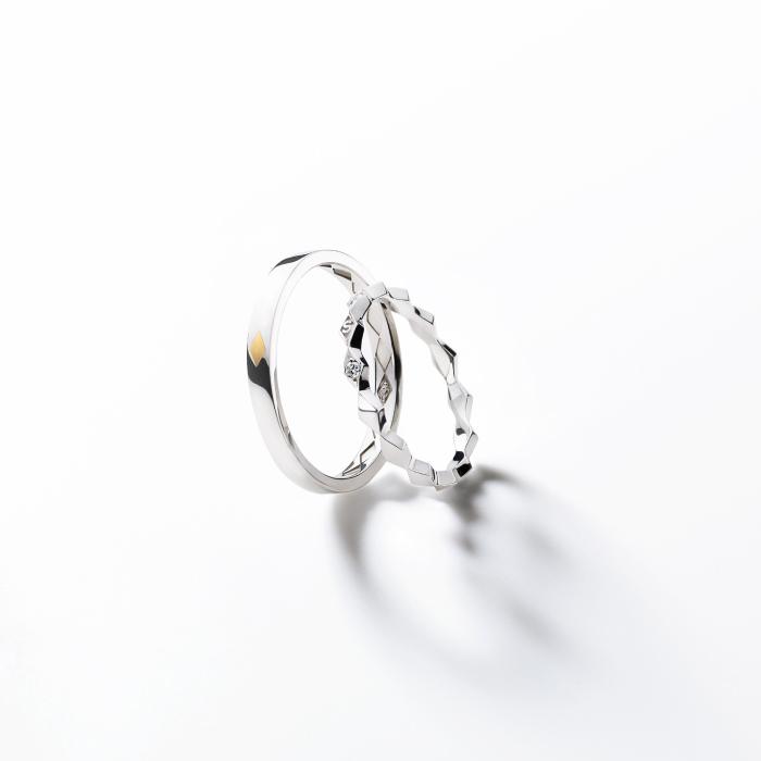 フェミニン,ゴージャス 結婚指輪のロサンジュマリッジリング