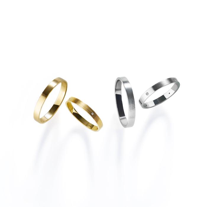 フェミニン,ゴージャス 結婚指輪のmリング