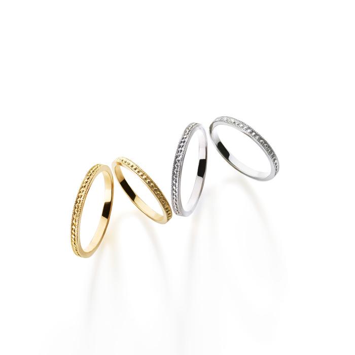 フェミニン,ゴージャス 結婚指輪のピュルテリング