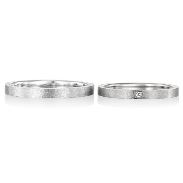 シンプル,フェミニン 結婚指輪のドゥ