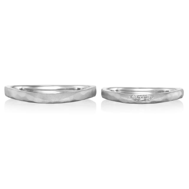 シンプル,フェミニン 結婚指輪のスヴニール