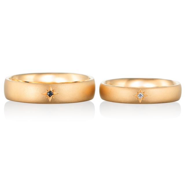 シンプル,ゴージャス 結婚指輪のエトワール