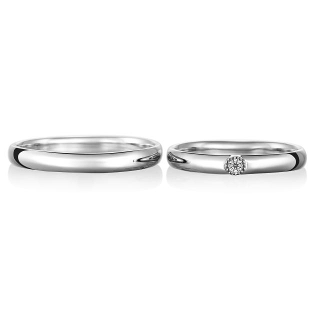 シンプル,フェミニン 結婚指輪のカルム