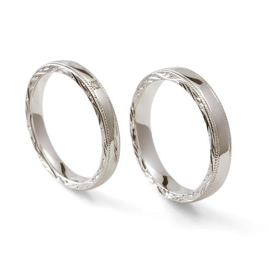 個性的 結婚指輪の永遠 糸(いと)