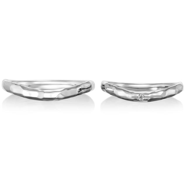 シンプル,フェミニン 結婚指輪のプレジール