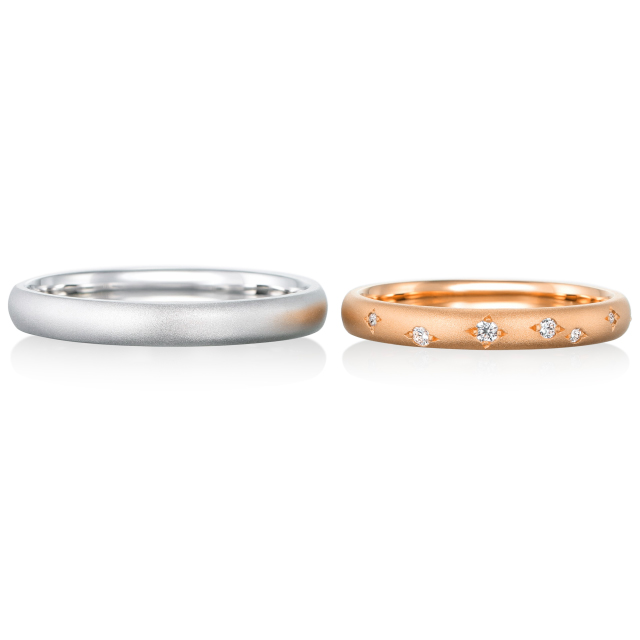 シンプル,フェミニン 結婚指輪のメテオール