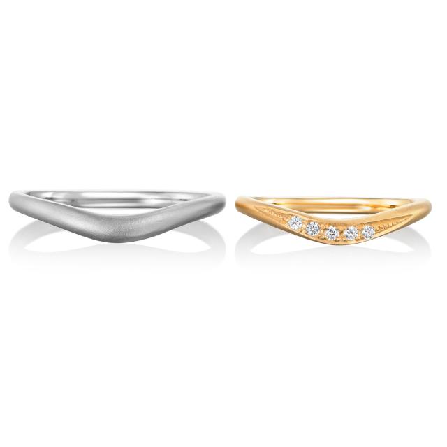 シンプル,フェミニン 結婚指輪のジョワ