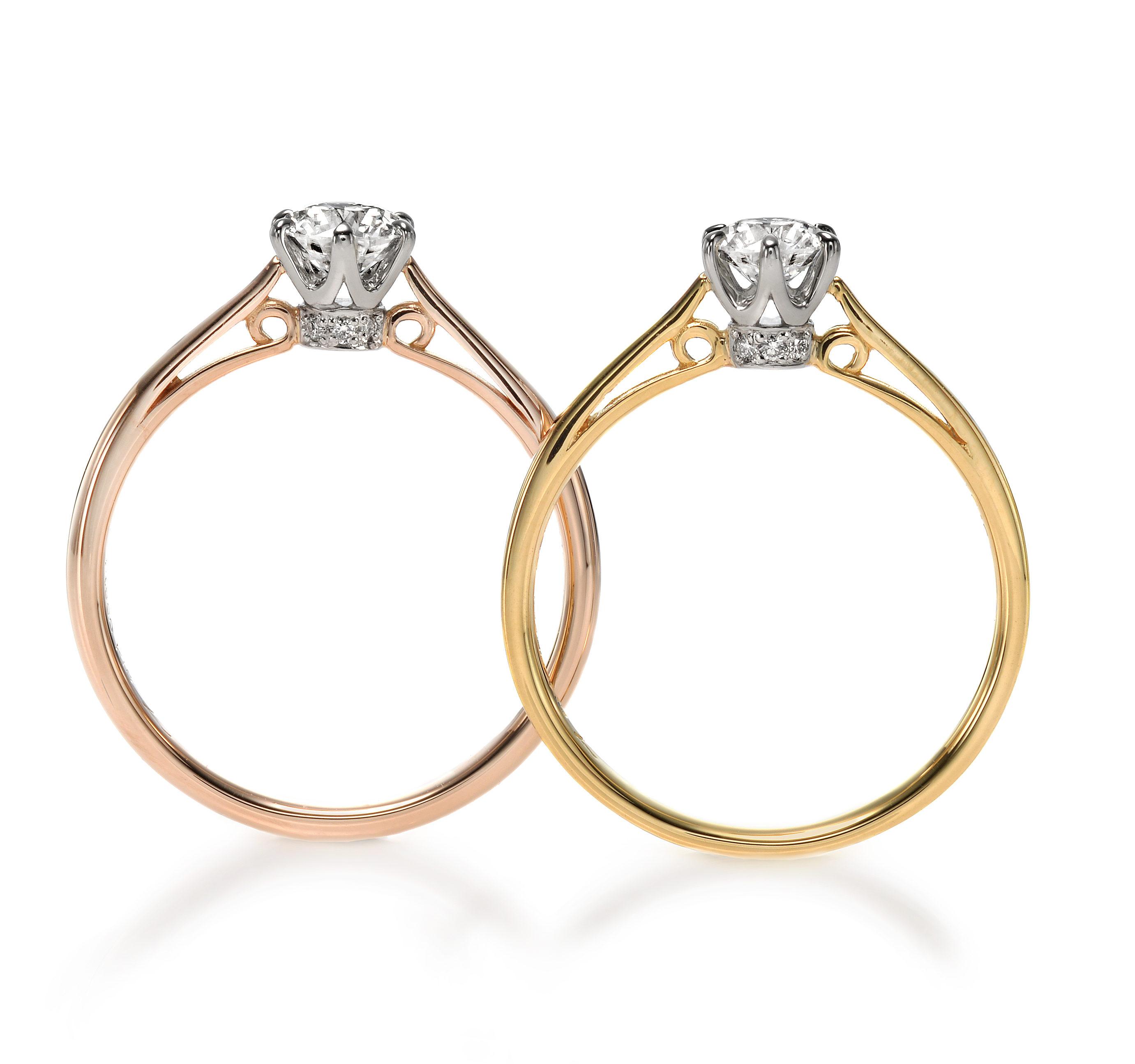 ゴージャス 婚約指輪のポン・マリー /ポン・ドゥ・シュリー