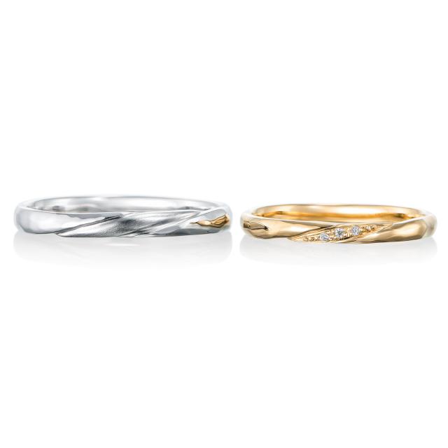 シンプル,フェミニン 結婚指輪のフェリシテ