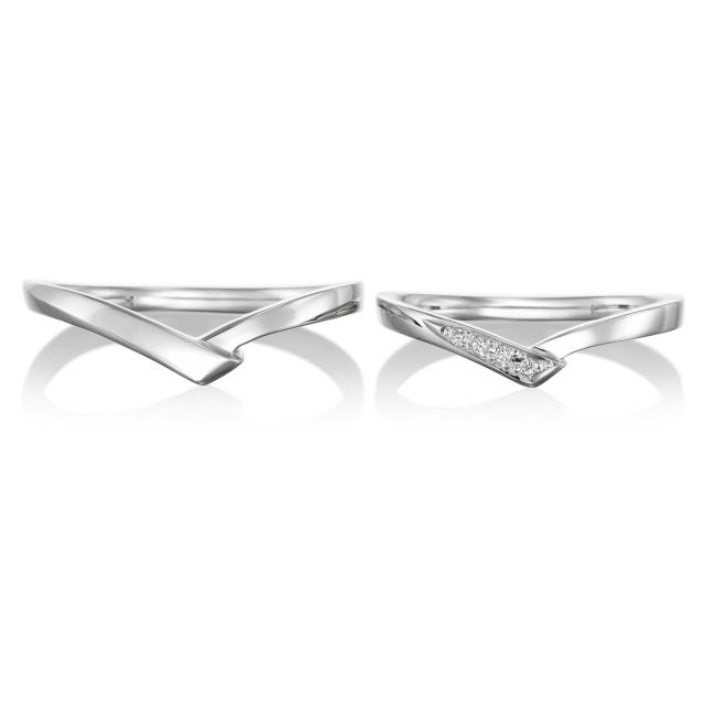 シンプル 結婚指輪のフォルチュンヌ
