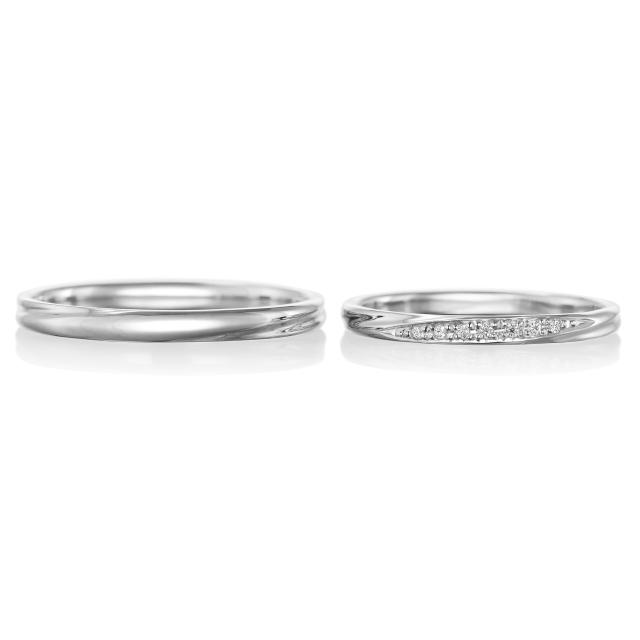 シンプル 結婚指輪のルコネサンス
