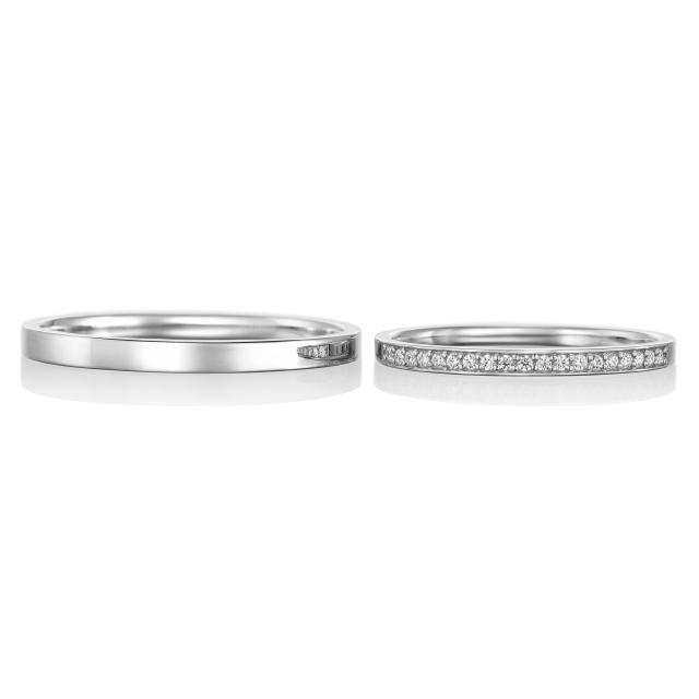シンプル,フェミニン 結婚指輪のアムール