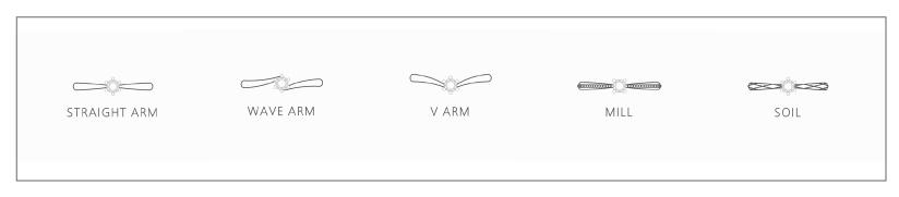 STEP 1 / ARM -アームの形状-
