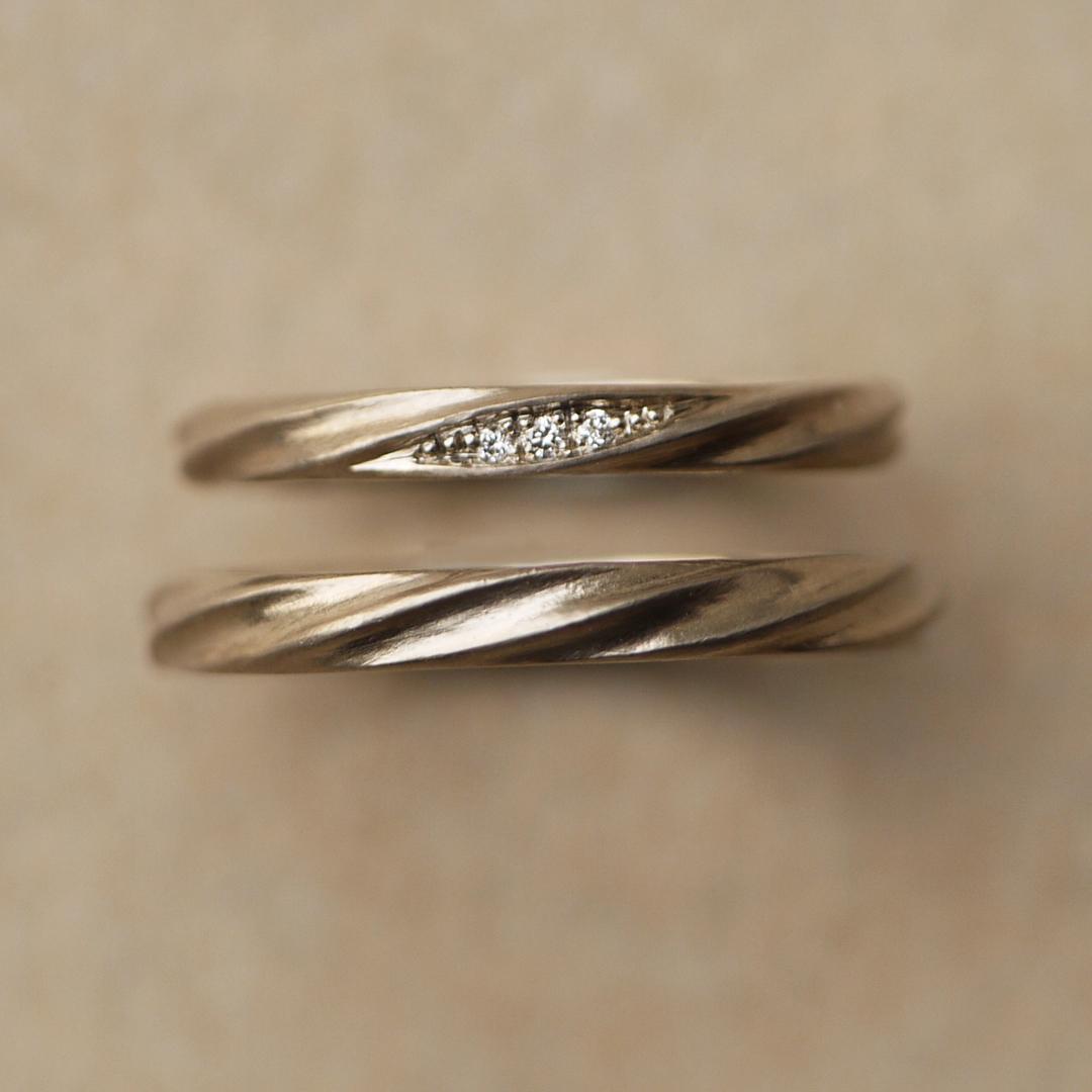 シンプル,アンティーク 結婚指輪のCurrent〜流れ〜